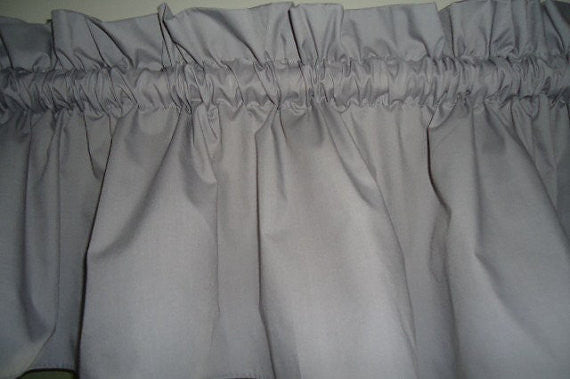 Grey Valance Curtain Window Treatment, 58 Inches Wide Custom rod Pocket and long. free shipping