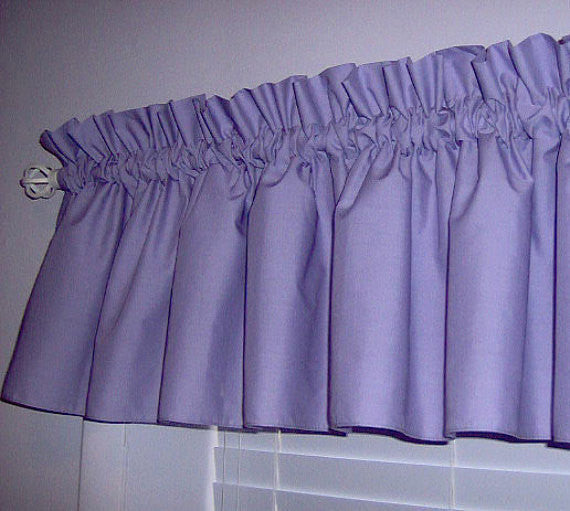 Lavender Purple Valance Curtain Window Treatment, 58 Inches Wide Custom rod Pocket and long. f.shipping