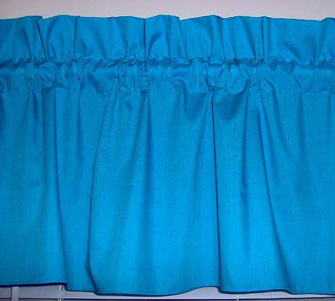 Turquoise Valance Curtain Window Treatment, 58 Inches Wide Custom rod Pocket and long. free shipping
