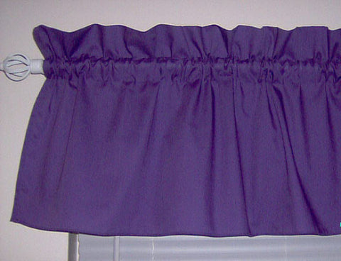 Purple Violet Valance Curtain Window Treatment, 58 Inches Wide Custom rod Pocket and long. free shipping