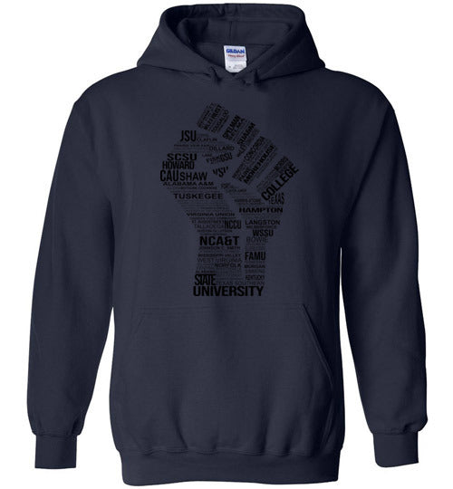Unisex Historically Black Power Hoodie (Black)