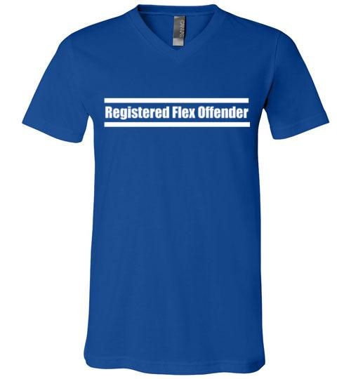 Registered Flex Offender V-Neck T-Shirt
