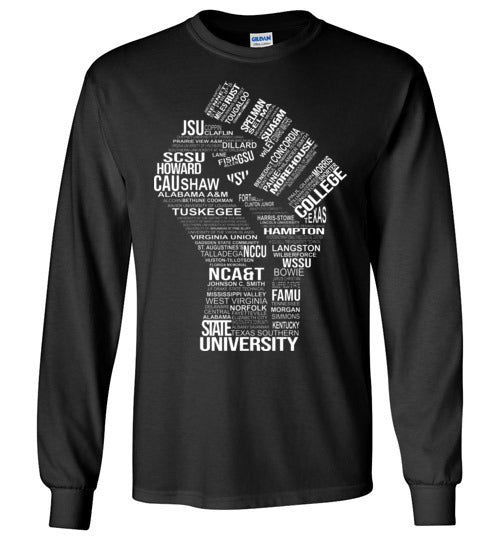 Men's Historically Black Power Long Sleeve T-Shirt