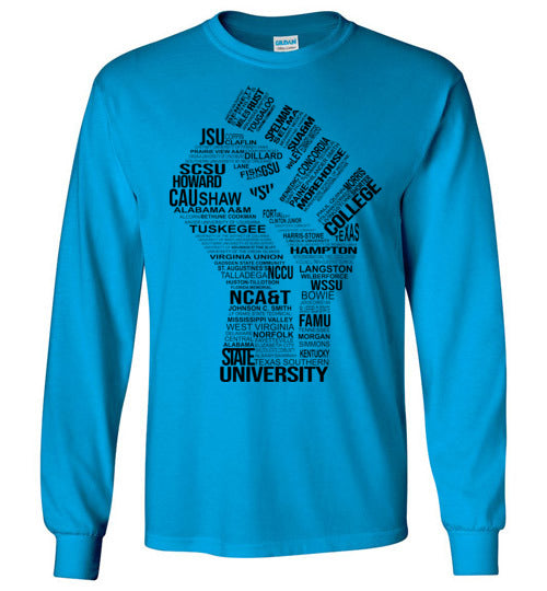 Men's Historically Black Power Long Sleeve (Black)