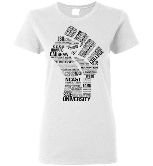 Women's Historically Black Power T-Shirt (Black)