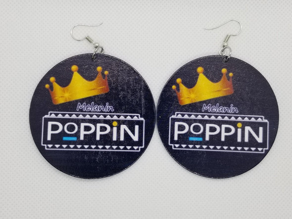 Melanin Poppin Earrings - Marvel Hairs