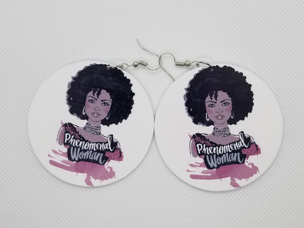 Phenomenal Woman Earrings - Marvel Hairs