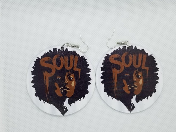 Chocolate Soul Earrings - Marvel Hairs