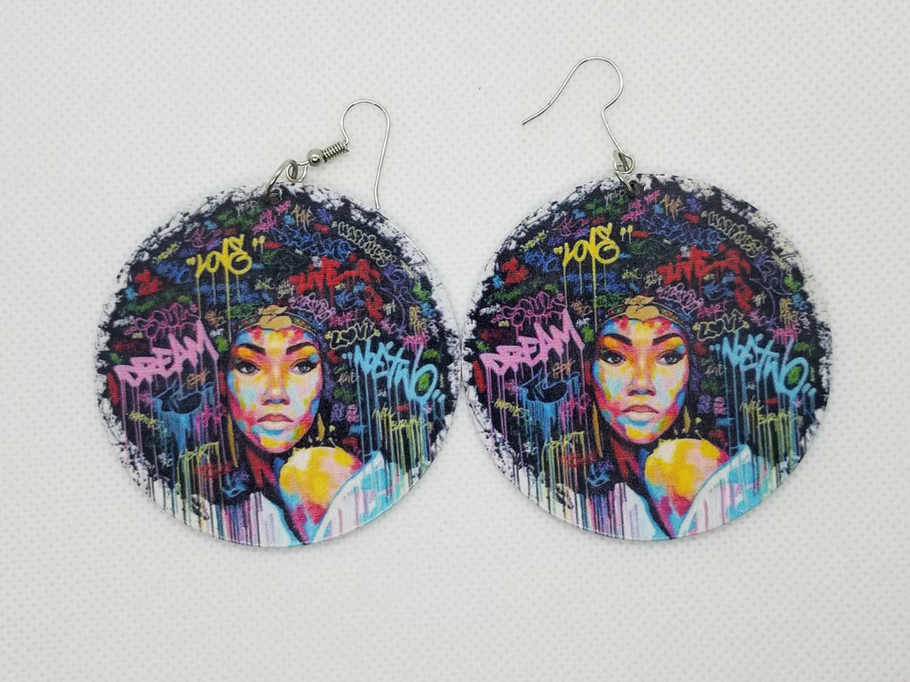 Dream, Love, Live Afro Earrings - Marvel Hairs