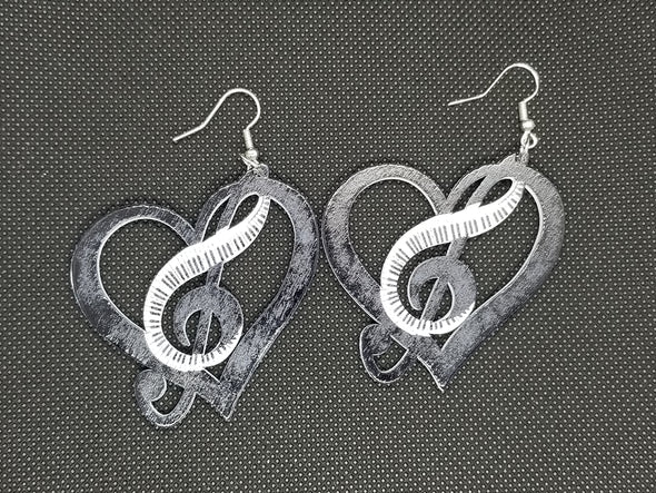 Symphonic Love Wooden Earrings