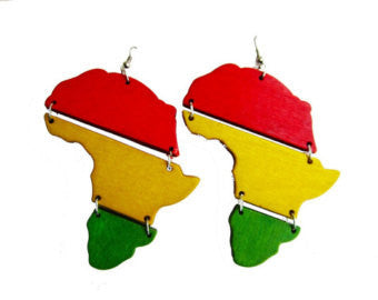 Africa Wooden Earrings - Marvel Hairs