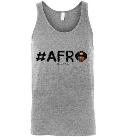 #Afro Tank Top-Shirts-Marvel Hairs