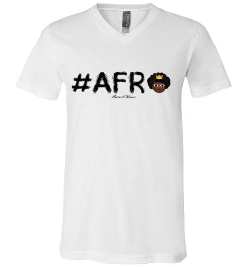 #Afro V-Neck - Marvel Hairs