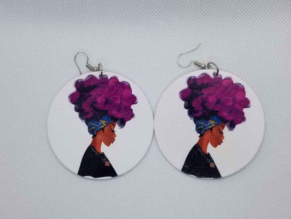 Headwrap Fro Earrings - Marvel Hairs