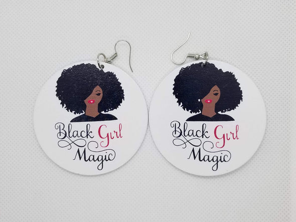 Black Girl Magic Earrings - Marvel Hairs