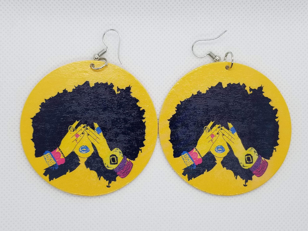 All is Natural Earrings - Marvel Hairs