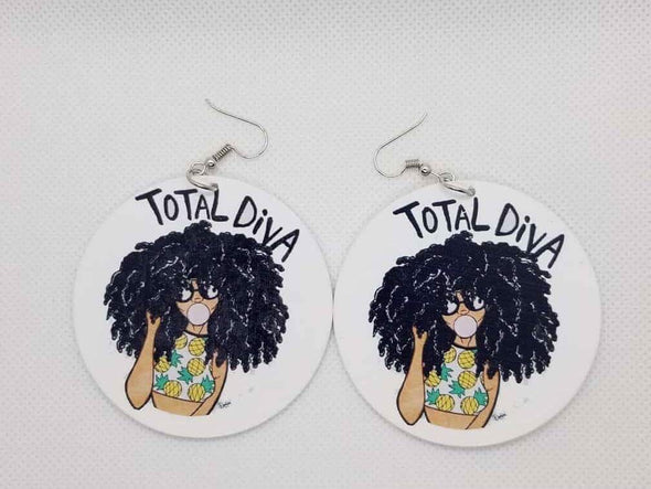 Total Diva Earrings - Marvel Hairs