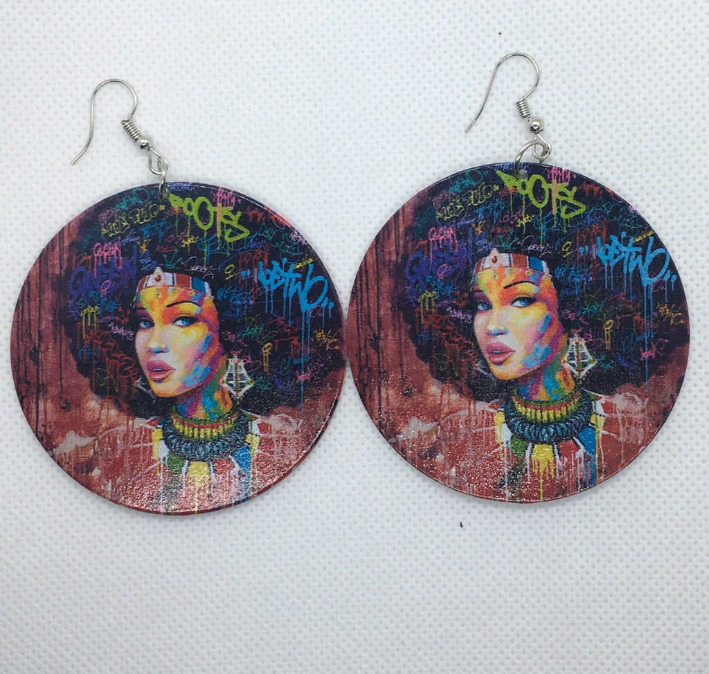 Dream, Love, Live Afro Earrings