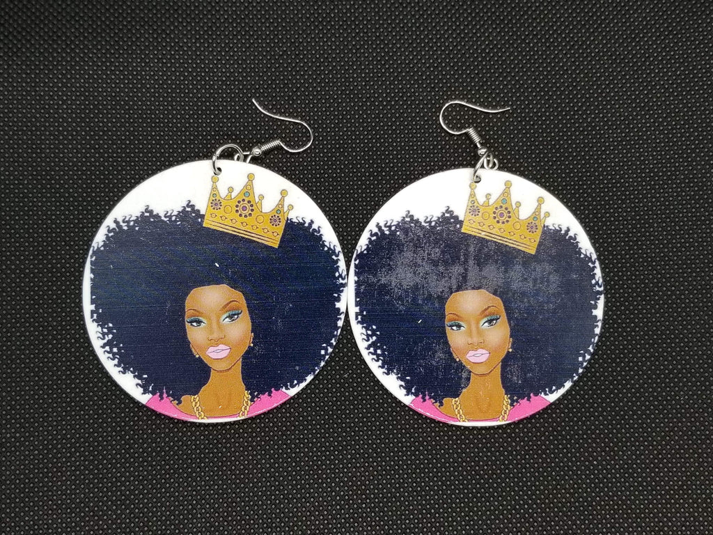 Respect The Queen Earrings - Marvel Hairs