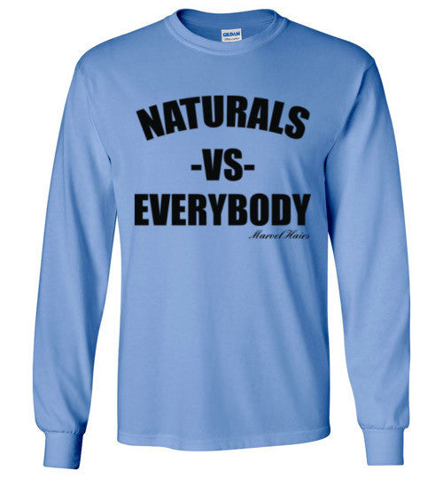 Naturals vs Everybody Long Sleeve T-Shirt - Marvel Hairs
