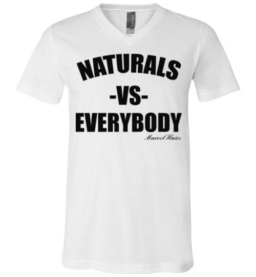 Naturals vs Everybody V-Neck T-Shirt - Marvel Hairs