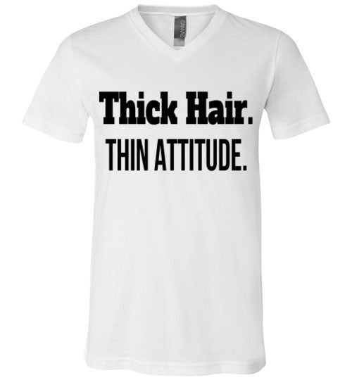 Thick Hair, Thin Attitude V-Neck T-Shirt - Marvel Hairs