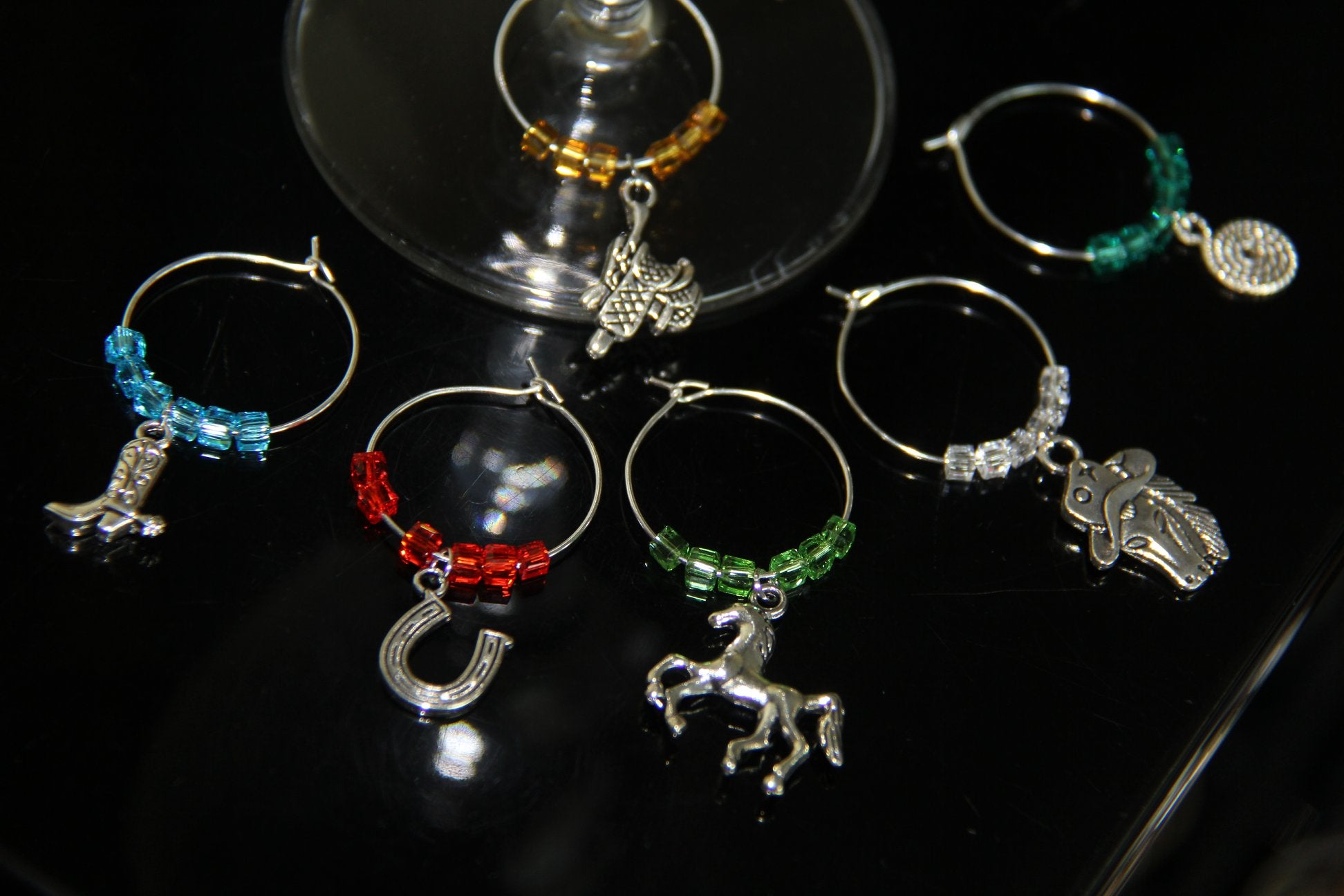 Horse Collection - Wine Glass Rings
