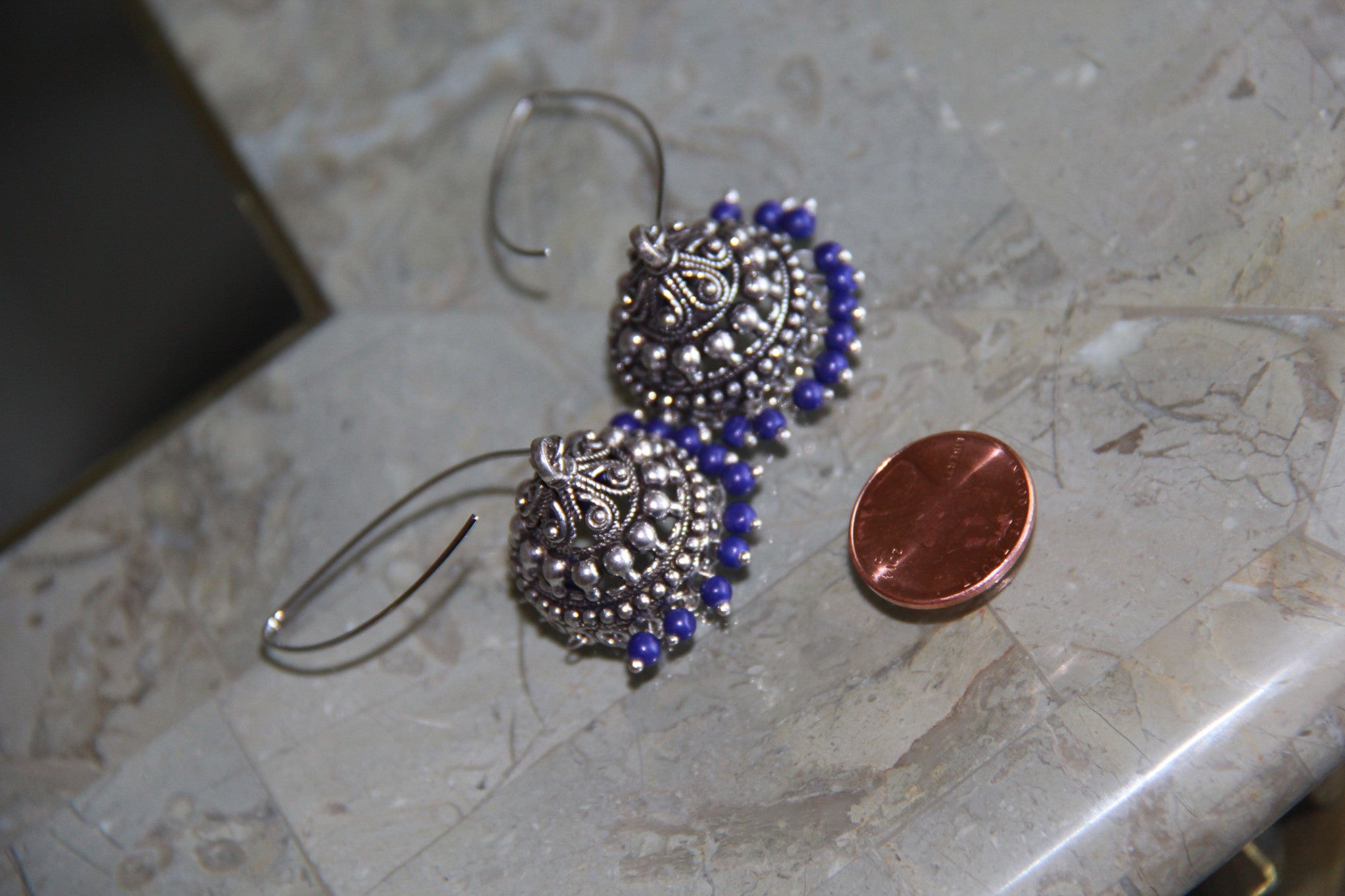 Jumka style ear rings in eight different colors