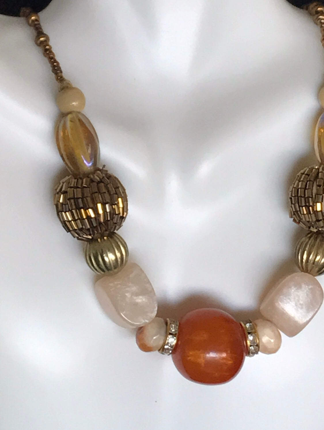 Honey and gold necklace