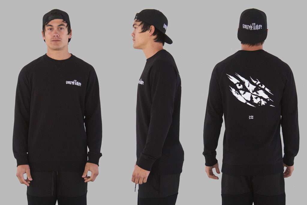 Wolfpack Crew Neck Jumper / Black