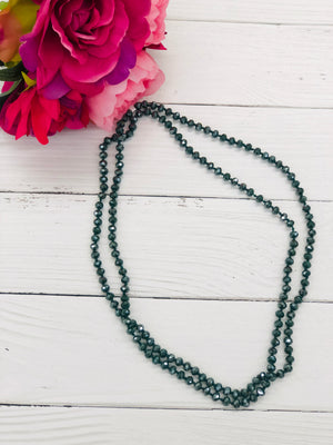 Peacock - Beaded Necklace 60""