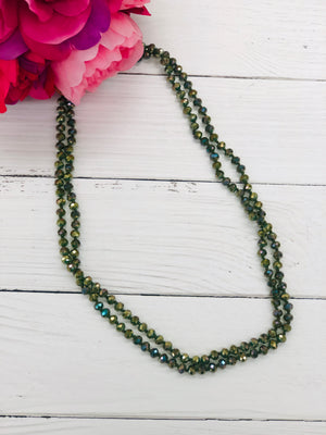 Moss - Beaded Necklace 60""