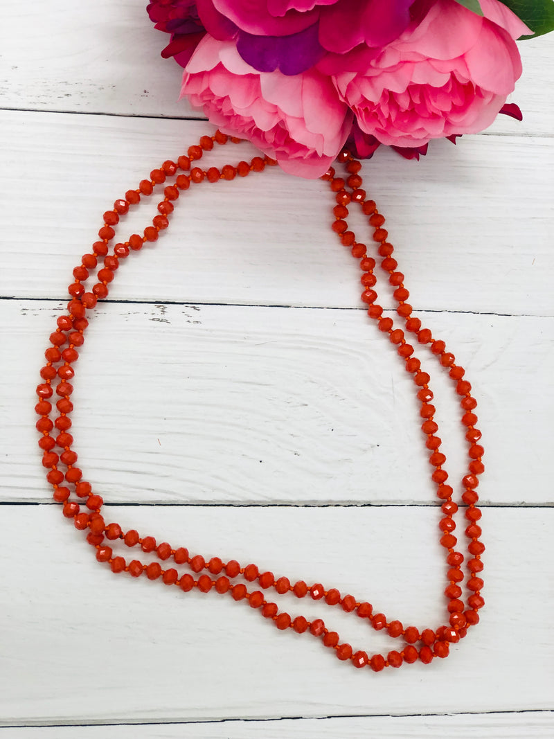 Pumpkin Pie - Beaded Necklace 60