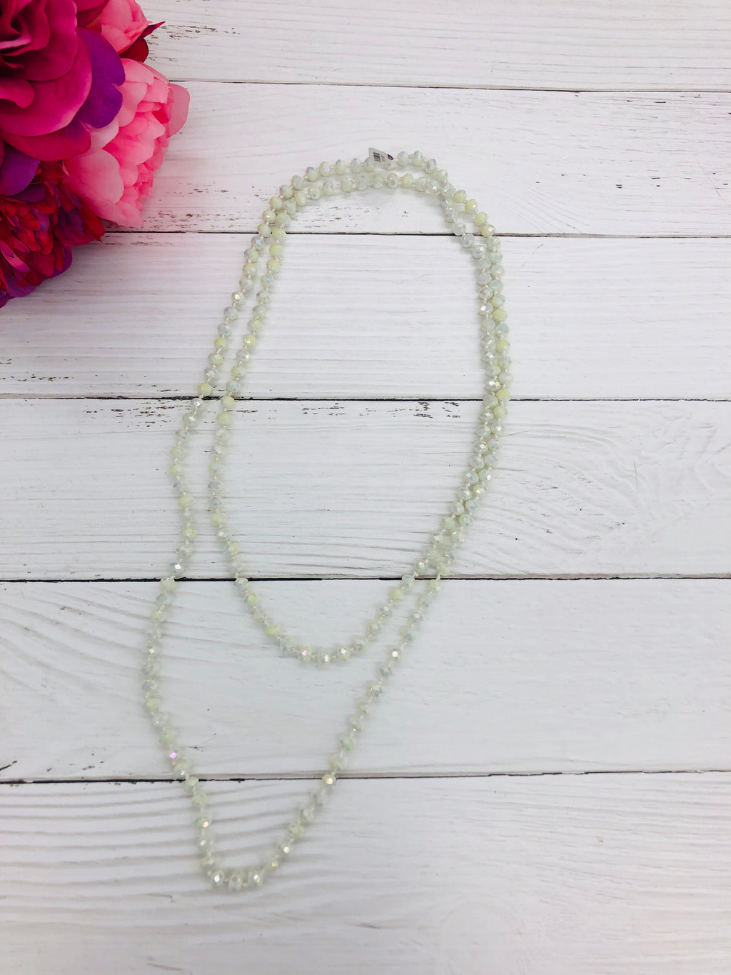 Ivory - Beaded Necklace 60""