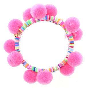 Jane Marie Kids Hip Hip Hooray Pom Pom Bracelets