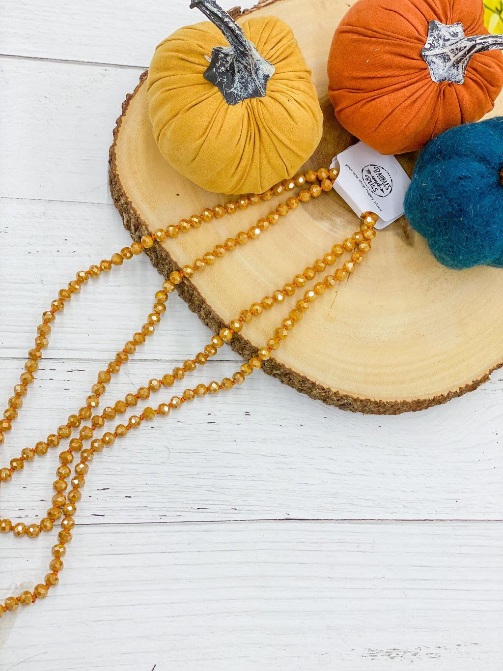 Mustard Seed - Beaded Necklace 60""