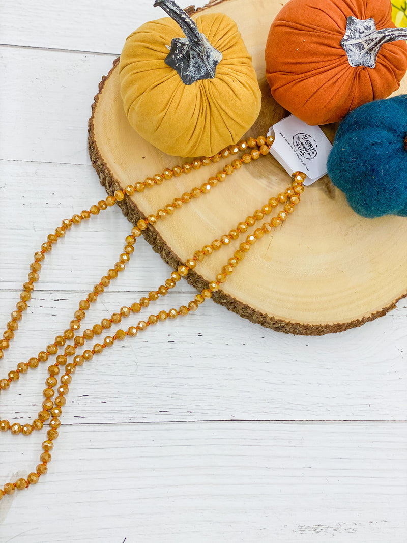 Mustard Seed - Beaded Necklace 60