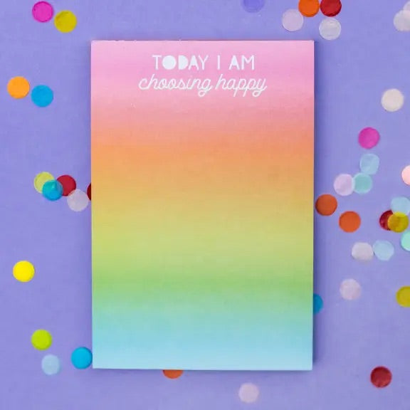 Choose Happy Notepad
