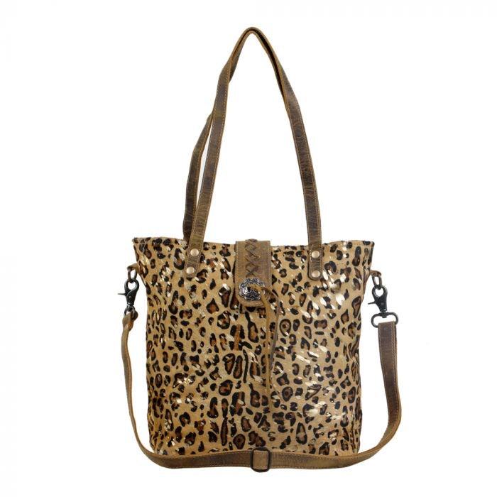 Kimberly - Leather Leopard Hide Myra Bag