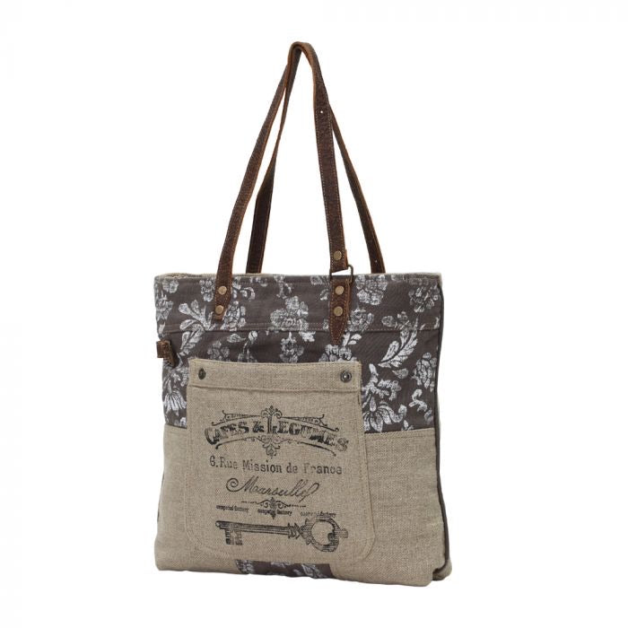 Ivy - Old Key Linen Myra Tote Bag