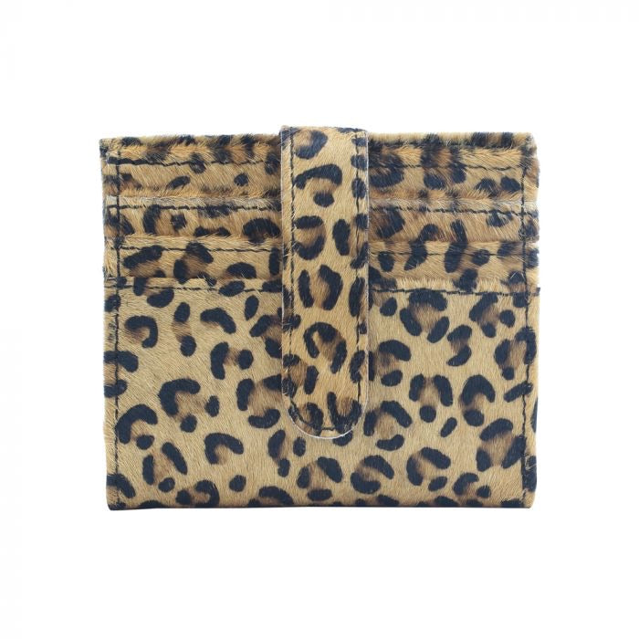 Brooke - Leopard Leather Hide Myra Wallet