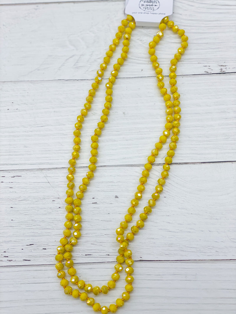 Sunshine Yellow - Beaded Necklace 60