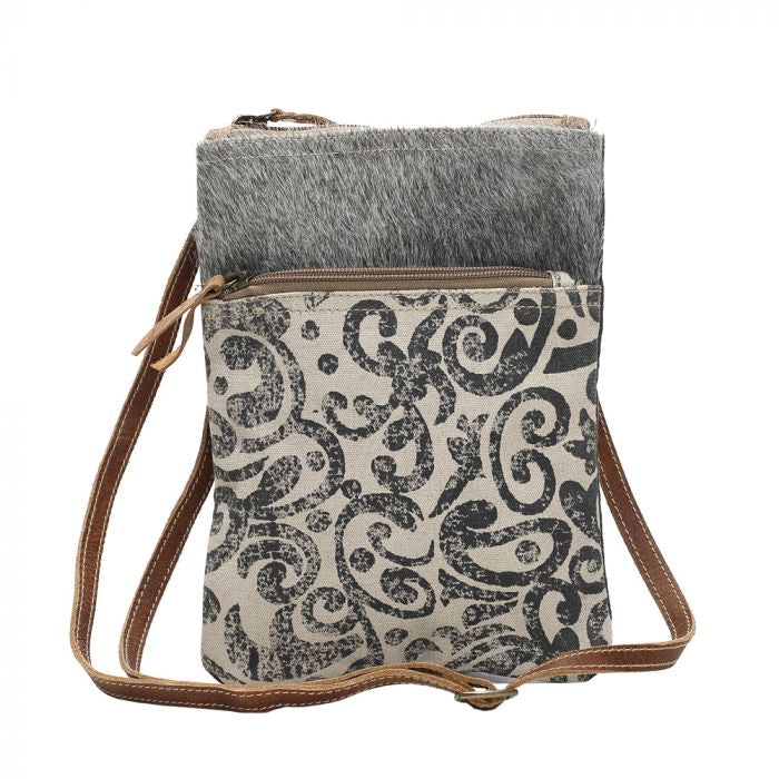 Shelina - Leaf Pattern Myra Crossbody Bag