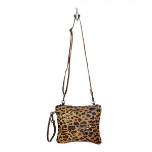 Nia - Leopard Leather Speckled Gold Myra Bag