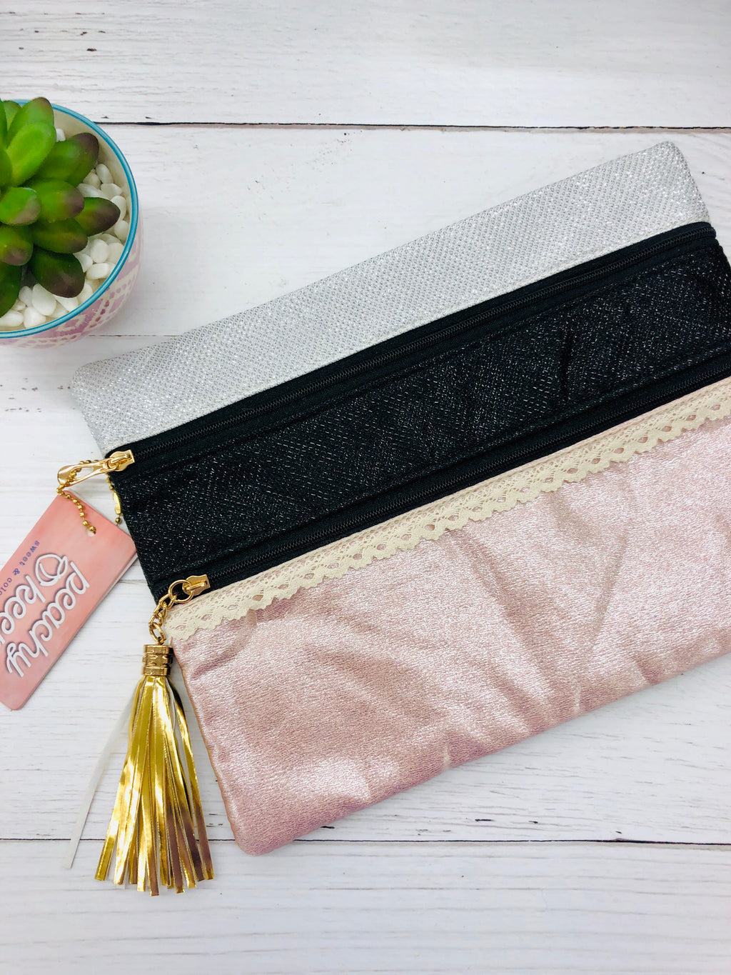 Date Night Darling Double Zipper Versi Bag