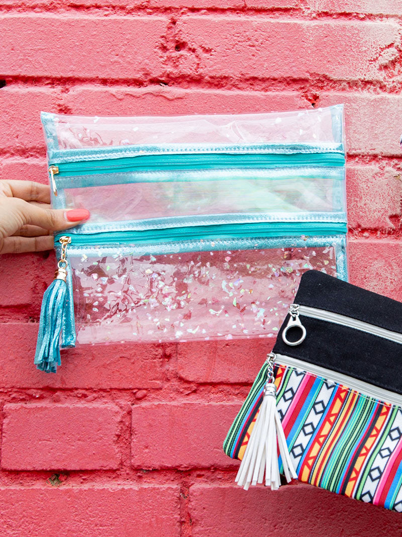 Mermaid Scales Double Zipper Versi Bag