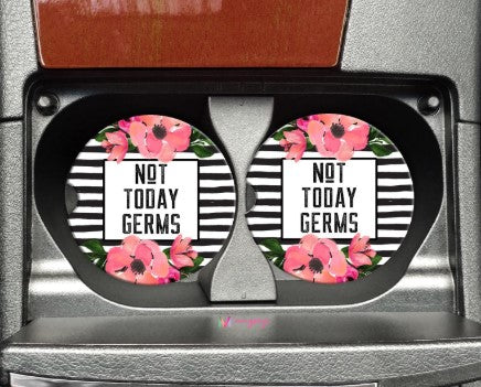Car Coaster - Not Today Germs