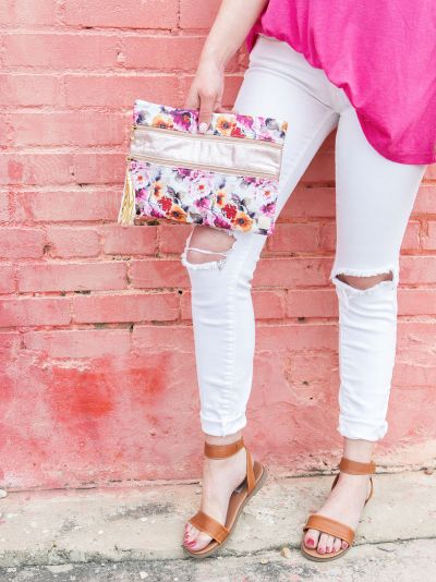 Pocketful of Posies Double Zipper Versi Bag
