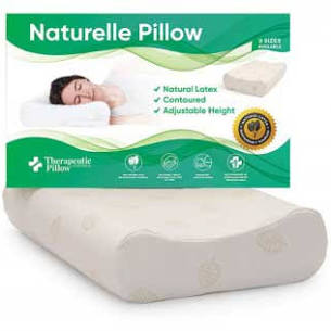Naturelle Latex Pillow - Contoured, Adjustable, 3 Size Options