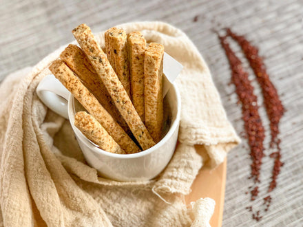 Gluten Free and Vegan Quinoa Sticks